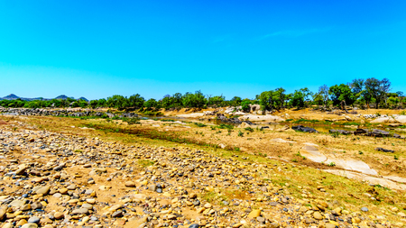 Landscape around the Olifants River near Phalaborwa in Kruger National Park in South Africa