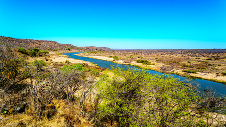 The Olifant River in Kruger National Park in South Africa viewed from Olifant Lookout between Olifant and Letaba Rest Camps