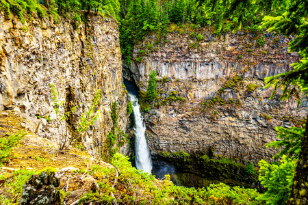 Spahats Falls, a waterfall on Spahats Creek in Wells Gray Provincial Park at Clearwater British Columbia, Canada