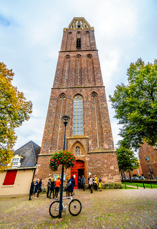 The 15th century Peperbus (Pepper Canister) is a late Gothic tower in the historic city of Zwolle from the Basilica of Our Lady of the Assumption