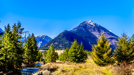 The Coast Mountain Range at the Duffey Lake Road near the town of Lillooet in British Columbia, Canada Stockfoto