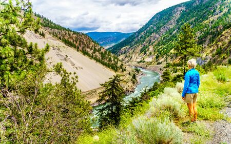 The Fraser River as it flows through the Fraser Canyon in beautiful British Columbia, Canada
