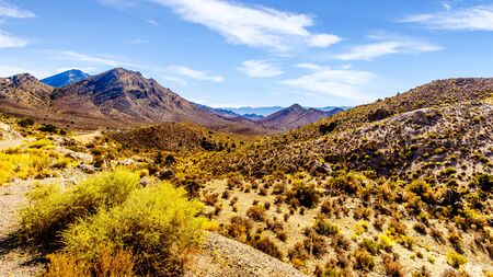 The South Pahroc Mountain Range along Nevada SR 93 between Ash Springs and Crystal Springs near Area 51 in the Nevada desert in the United States