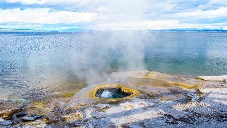 The Lakeshore Geyser in the West Thumb Geyser Basin in Yellowstone National Park, Wyoming, United States Standard-Bild