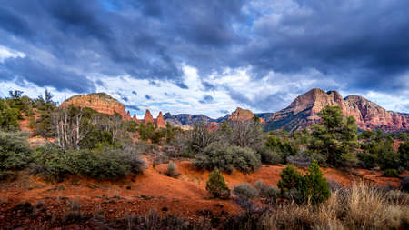 Chicken Point in the Munds Mountain Wilderness at Sedona in AZ, USA
