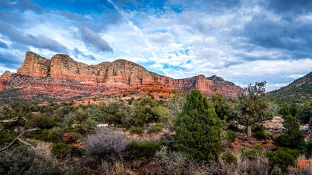 Munds Mountain near the town of Sedona in northern Arizona in Coconino National Forest, USA Фото со стока