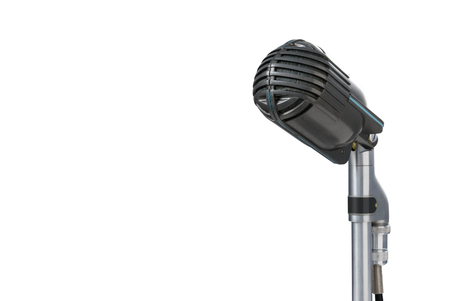 Vintage microphone on white background Banco de Imagens - 103452564