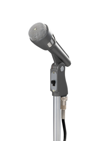 Front view of a vintage 1960s crystal microphone Фото со стока
