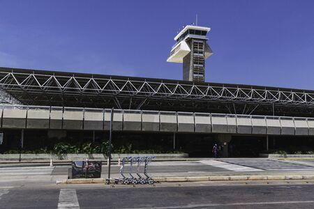 Front view of Brasilia's International Airport. (Brazil)