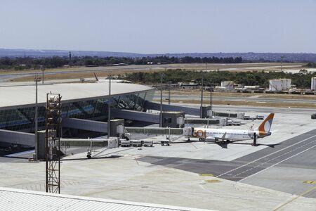 GOL airplane on the tarmac at Brasilia's International Airport.