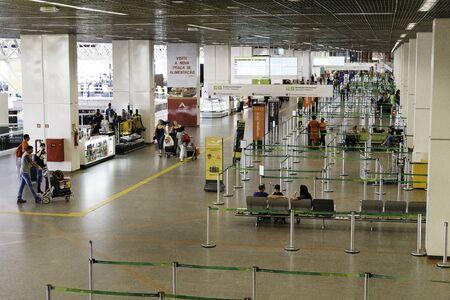 Brasilia International Airport's check in area (Brazil).