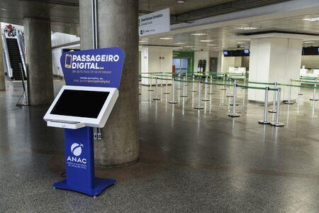 ANAC's information kiosk at Brasilia's International Airport (Brazil).