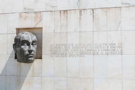 The bust of former Brazilian President, Juscelino Kubitschek. Located in Brasilia, Brazil. Editorial