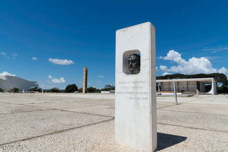 Homage to Israel Pinheiro, located at the Three Powers Plaza, in Brasilia, Brazil.