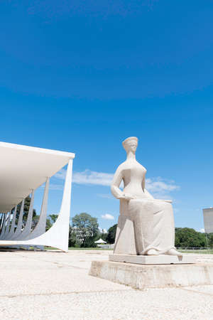 The Justice statue (A Justiça), located in front of Brazil's Supreme Court building.