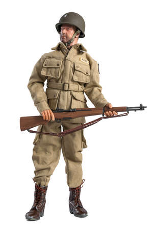 Action figure of a World War II lieutenant, of the US Airborne.