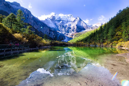 snow capped mountains: The snow capped mountains scenery Stock Photo