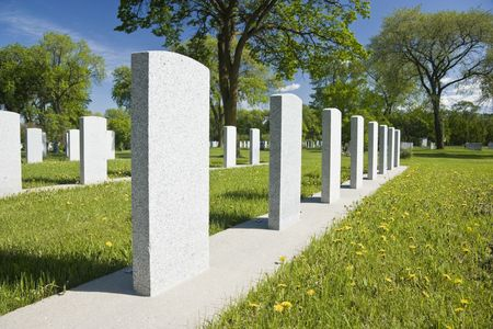 headstones: Military headstones at Brookside Cemetery, Winnipeg, Canada