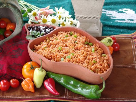 tex: Mexican rice Stock Photo