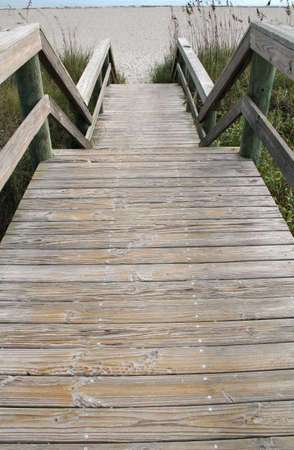cocoa beach: Wooden steps that leads out to the beach at Cocoa Beach, Florida.