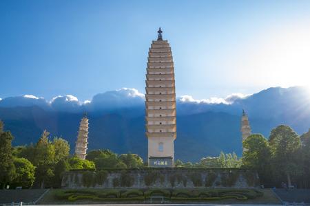 Three Pagodas of Chongsheng Temple at Dali, Yunnan