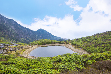 Natural scenery with pond at Cangshan, Dali photo
