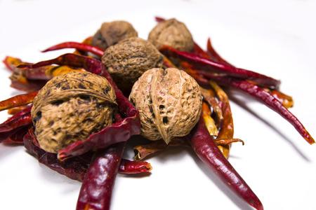 parable: Walnut & Chili Stock Photo