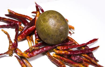parable: Chili & Siraitia grosvenorii Stock Photo