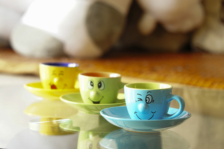 coffee cups: Coffee cups on the table