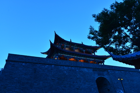 architectural building: Ancient Chinese architectural building Editorial