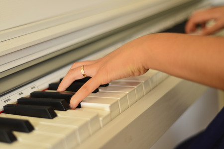 playing piano: playing piano