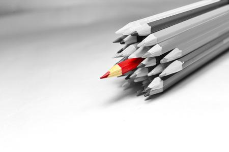 white colour: red color pencil Stock Photo