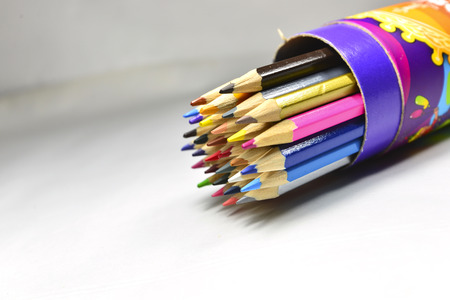 divergence: A bunch of pencil, color lead Stock Photo