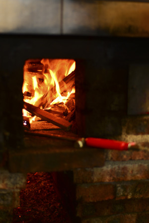 abstracted: fire for cooking food Stock Photo
