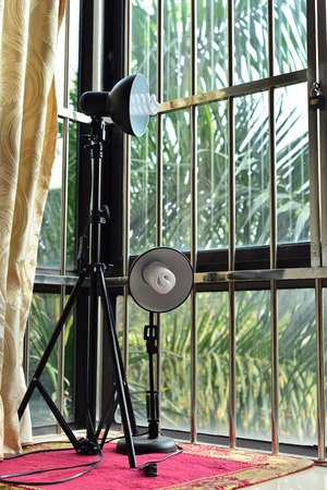 photographic: Photographic equipment at window