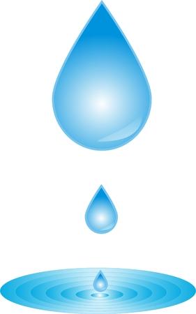 diesel engine: Drop of water droplets