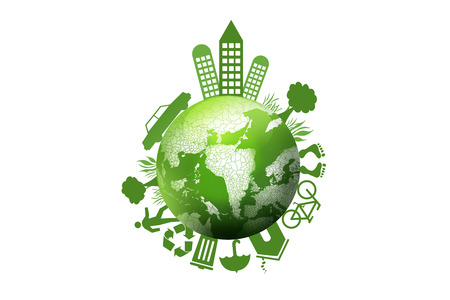 Green earth,environmental concept of earth