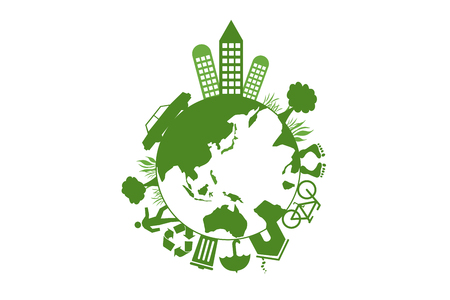 green buildings: Green Earth, green