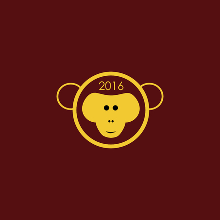 creative arts: year of the monkey 2016 Stock Photo