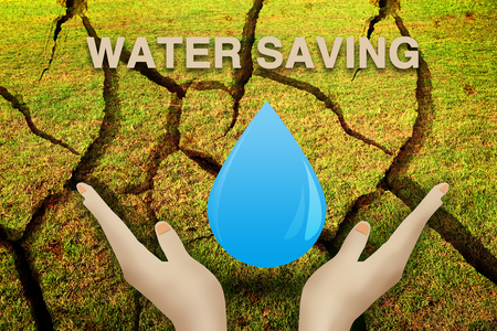 Water saving concept Stock Photo