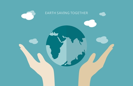 without delay: Earth saving together concept