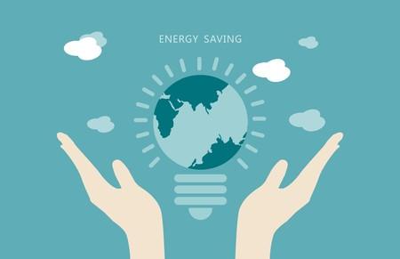 Concepto de ahorro de energía