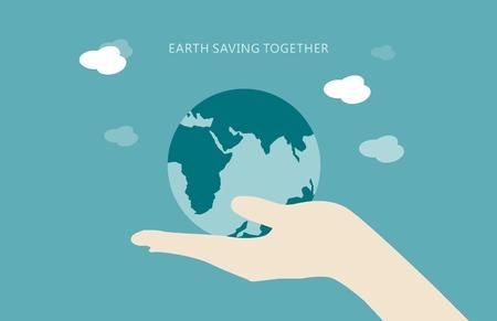 Earth saving concept