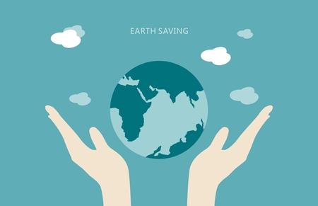 Earth beter Vector Illustratie