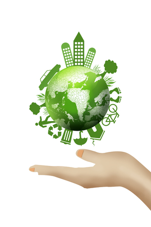 Earth in hands.ecology concept. Stock Photo