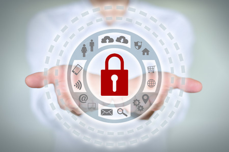 business services: Internet security online business concept showing security services Stock Photo
