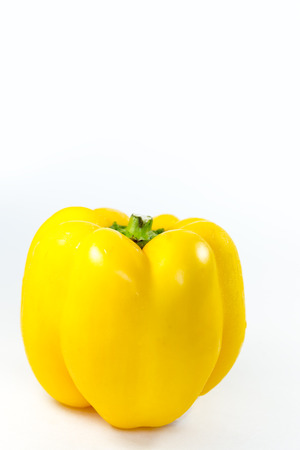 pimiento: Yellow Bell pepper isolated on white background