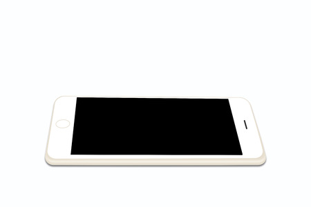 matting: PS draws the smart phone flat on a white background