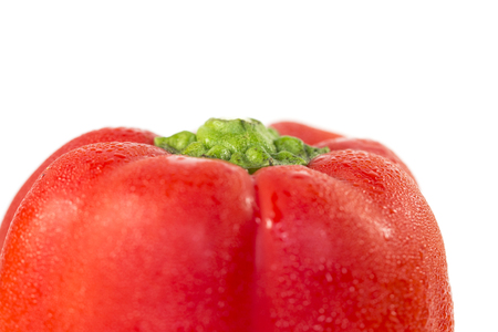 red bell pepper: Red bell pepper close-up