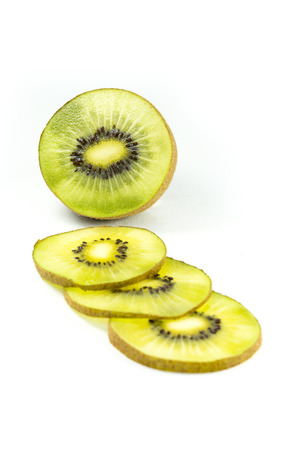 cutted: cutted kiwi Stock Photo